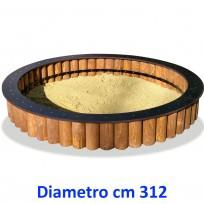SABBIERA WOODEN CIRCOLARE DIM CM. 312 X 312 X 45 (H)