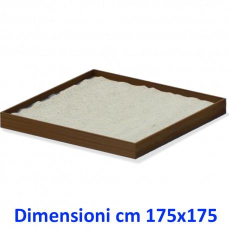 SABBIERA WOODEN BOX QUADRATO DIM CM. 175 X 175 X 25 (H)