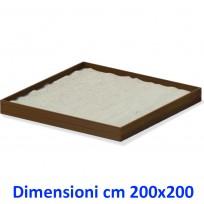 SABBIERA WOODEN BOX QUADRATO DIM CM. 200 X 200 X 25 (H)