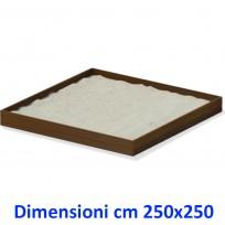 SABBIERA WOODEN BOX QUADRATO DIM CM. 250 X 250 X 25 (H)