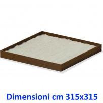 SABBIERA WOODEN BOX QUADRATO DIM CM. 315 X 315 X 25 (H)