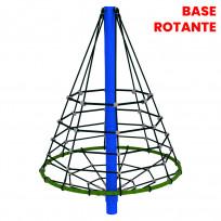 ARRAMPICATA ROTANTE A PIRAMIDE DIM CM. 186 X 186 X 200 (H)