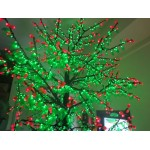 CILIEGIO CHERRY FRUIT DELUXE  3360 LED Ø MT. 3,5 X 4,5 (H) VERDE ROSSO