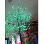 CHERRY-2088 LED WHITE FLOWER Ø MT. 2.6 X 3.5 MM (H) WHITE FLOWERS GREEN LEAVES