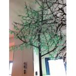 KIRSCHE 2088 LED WHITE FLOWER Ø MT. 2,6 X 3,5 (H) WEIßEN BLÜTEN, GRÜNE BLÄTTER